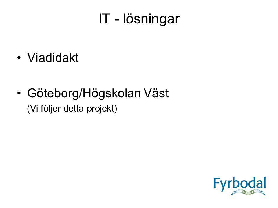 IT - lösningar Viadidakt Göteborg/Högskolan Väst
