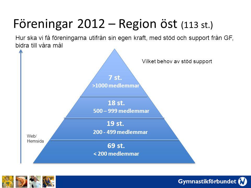 Föreningar 2012 – Region öst (113 st.)