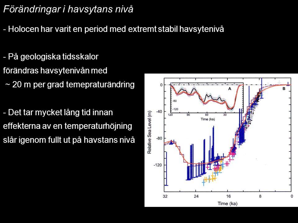Förändringar i havsytans nivå Havsytans nivåförändringar