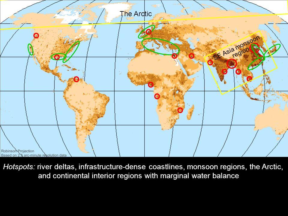 Världskarta med känsliga områden