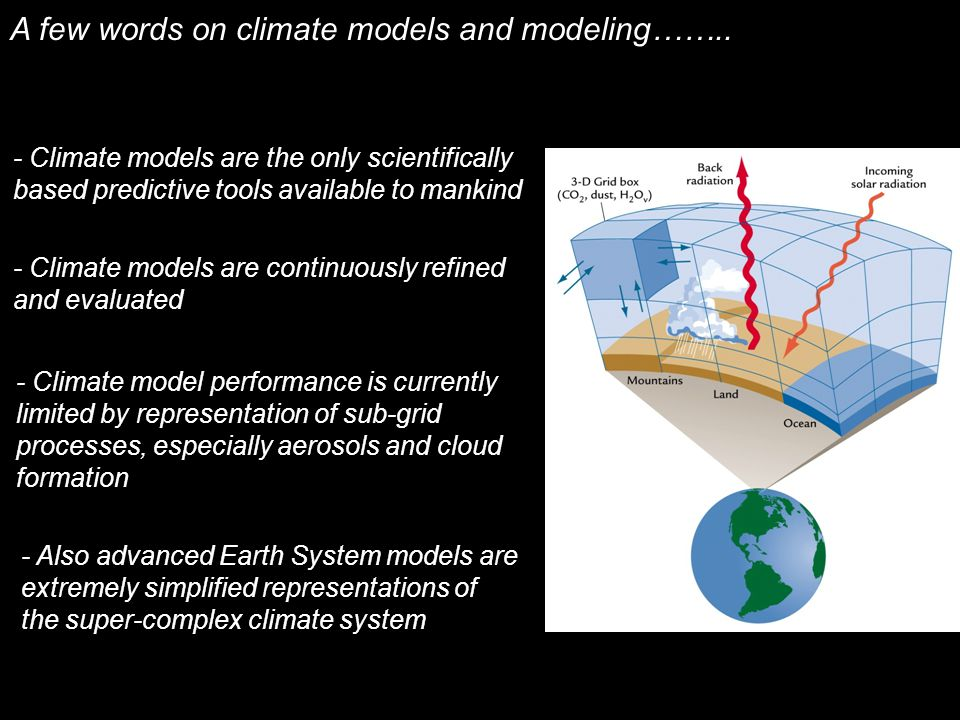 A few words on climate models and modeling……..