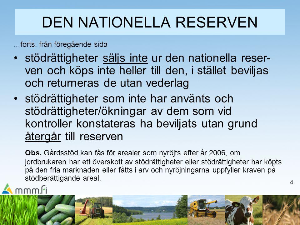 DEN NATIONELLA RESERVEN
