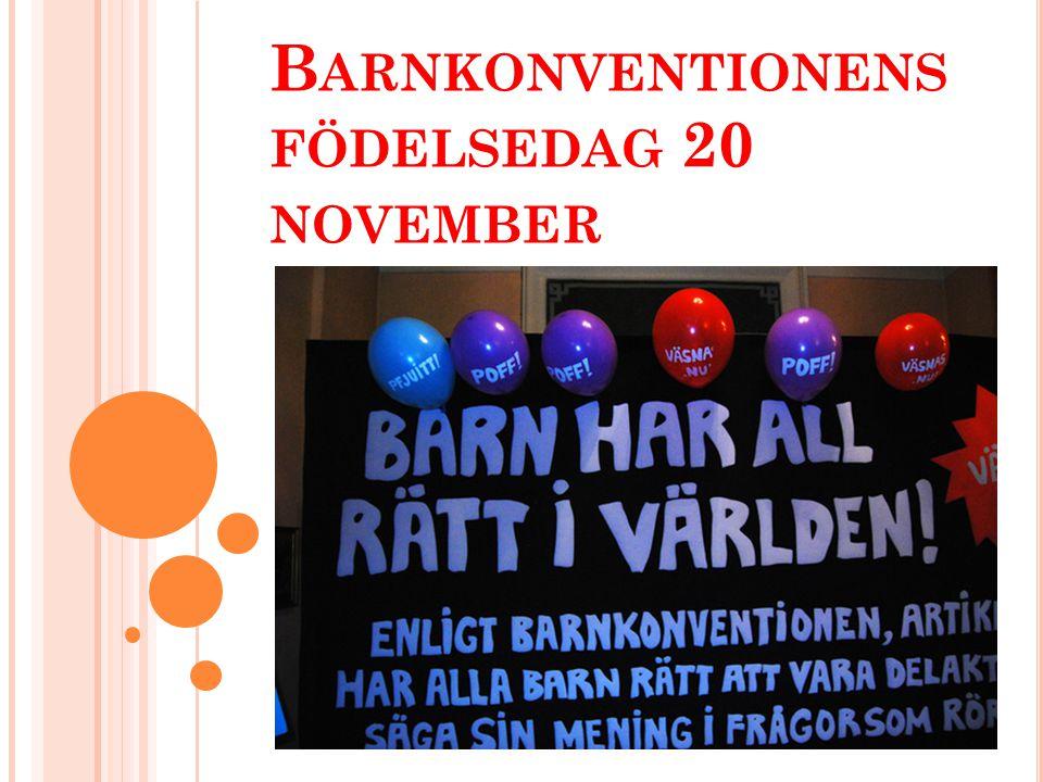 Barnkonventionens födelsedag 20 november