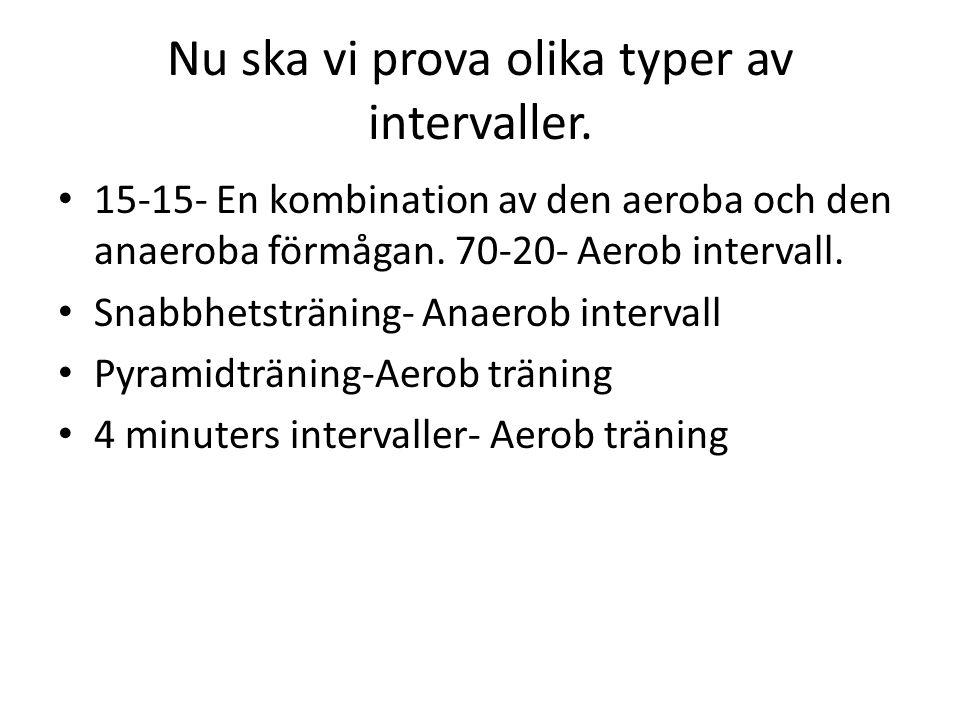Nu ska vi prova olika typer av intervaller.