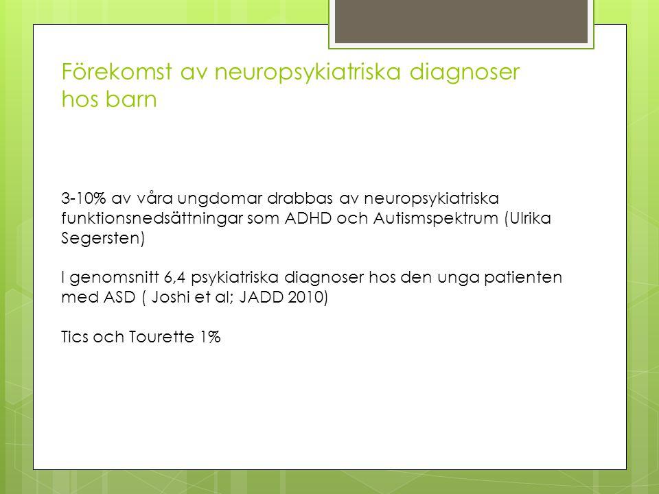Förekomst av neuropsykiatriska diagnoser hos barn