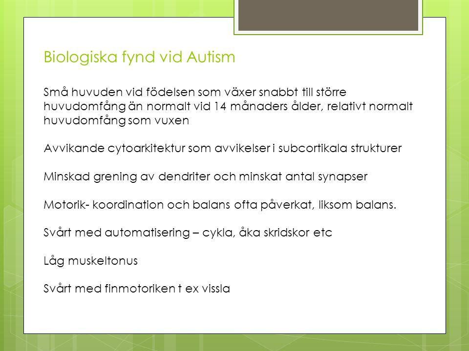 Biologiska fynd vid Autism