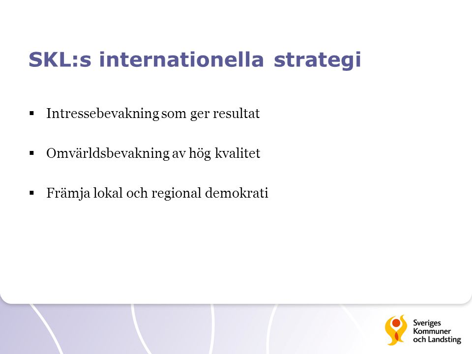 SKL:s internationella strategi