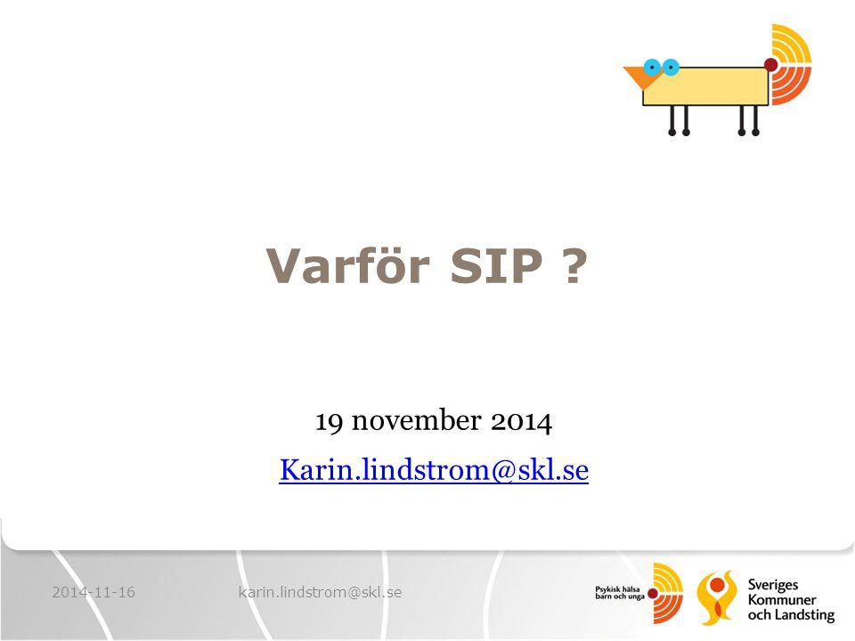 19 november 2014 Karin.lindstrom@skl.se