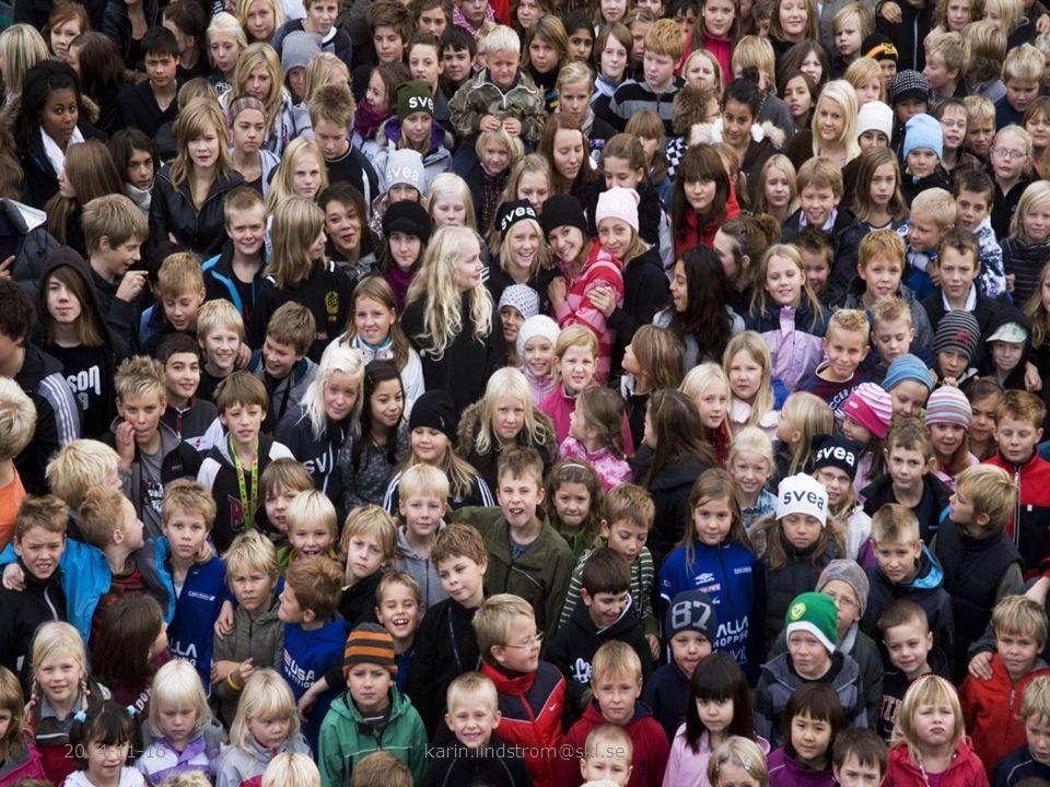 Ca 2 miljoner barn under 18 år i Sverige –