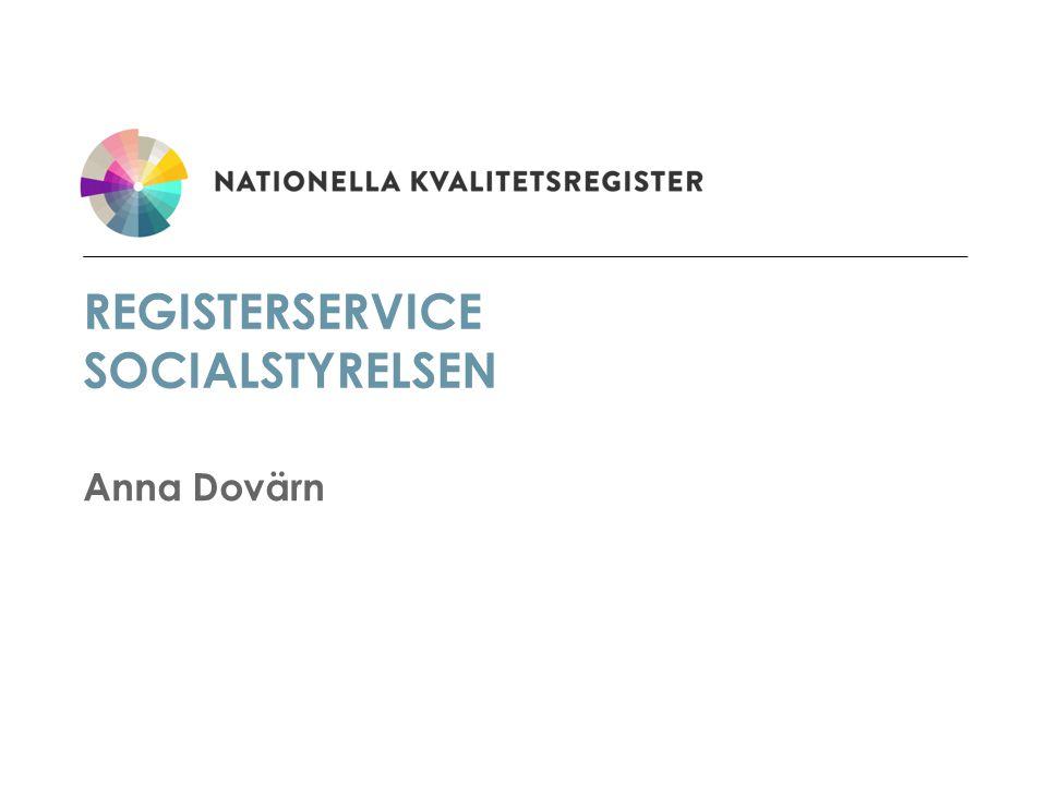 Registerservice socialstyrelsen