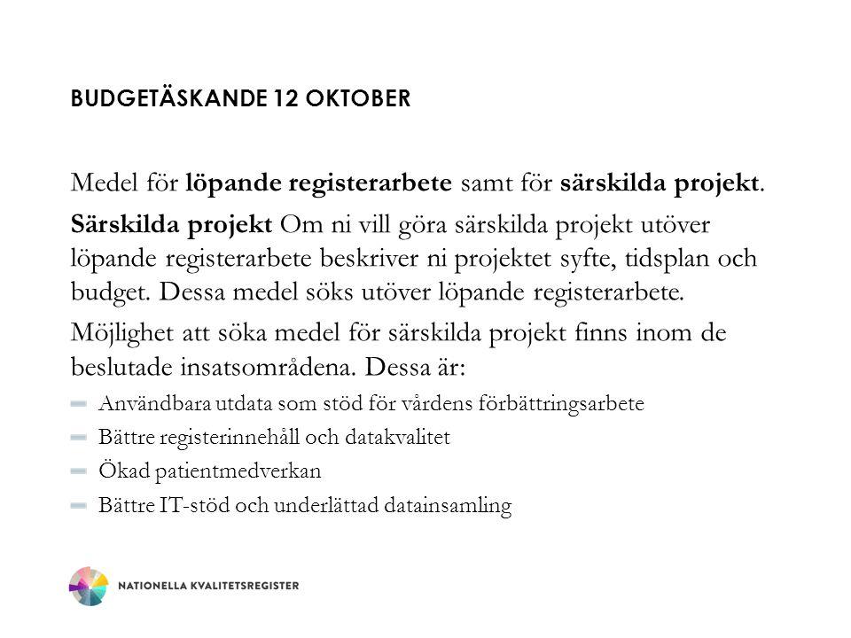 Budgetäskande 12 oktober