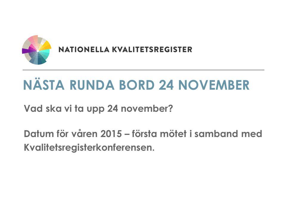 Nästa runda bord 24 november