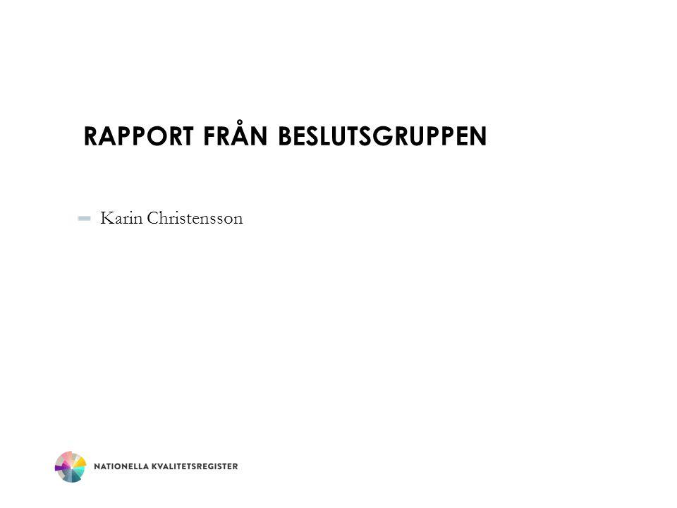 Rapport från beslutsgruppen
