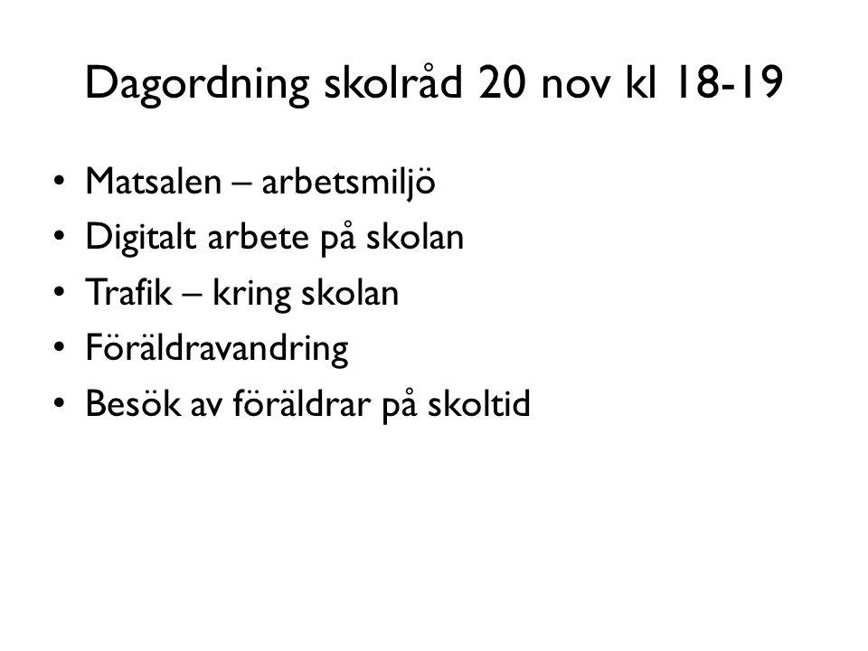 Dagordning skolråd 20 nov kl 18-19