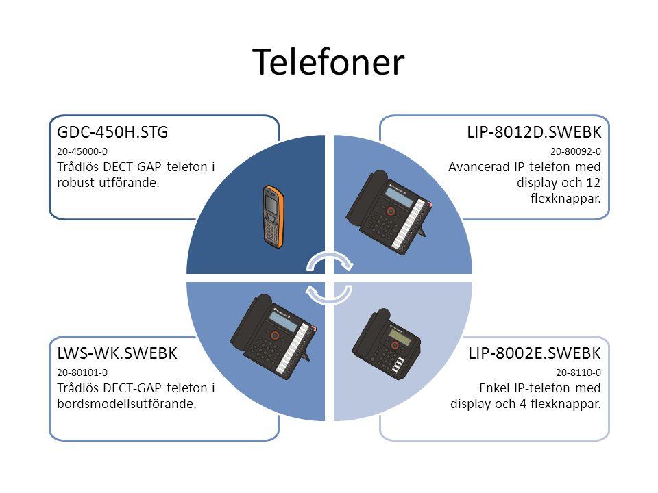 Telefoner GDC-450H.STG LIP-8012D.SWEBK LWS-WK.SWEBK LIP-8002E.SWEBK