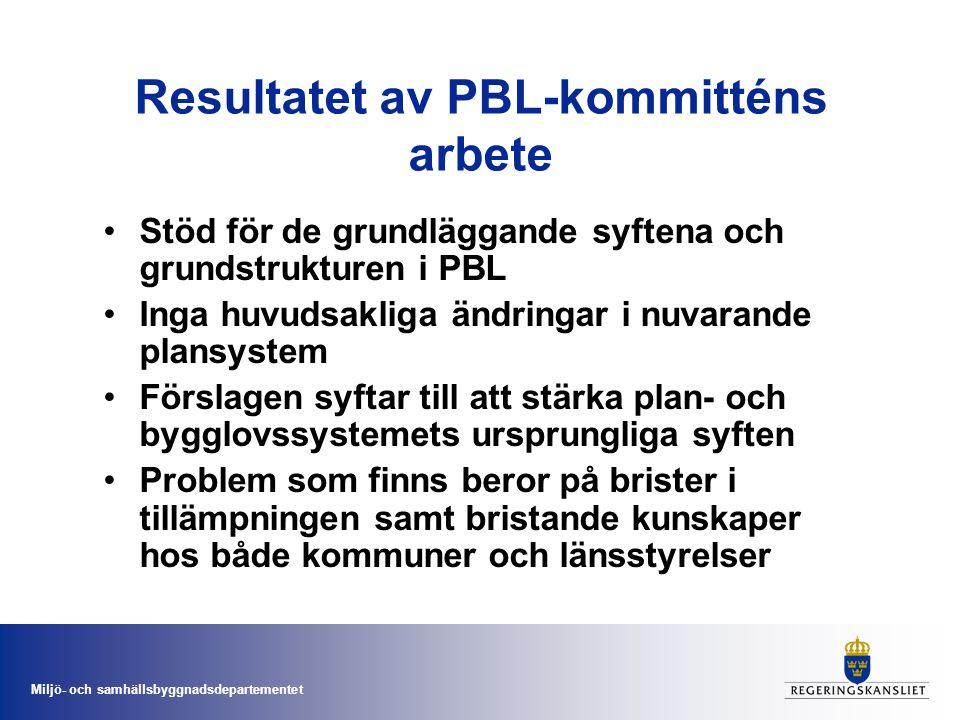 Resultatet av PBL-kommitténs arbete