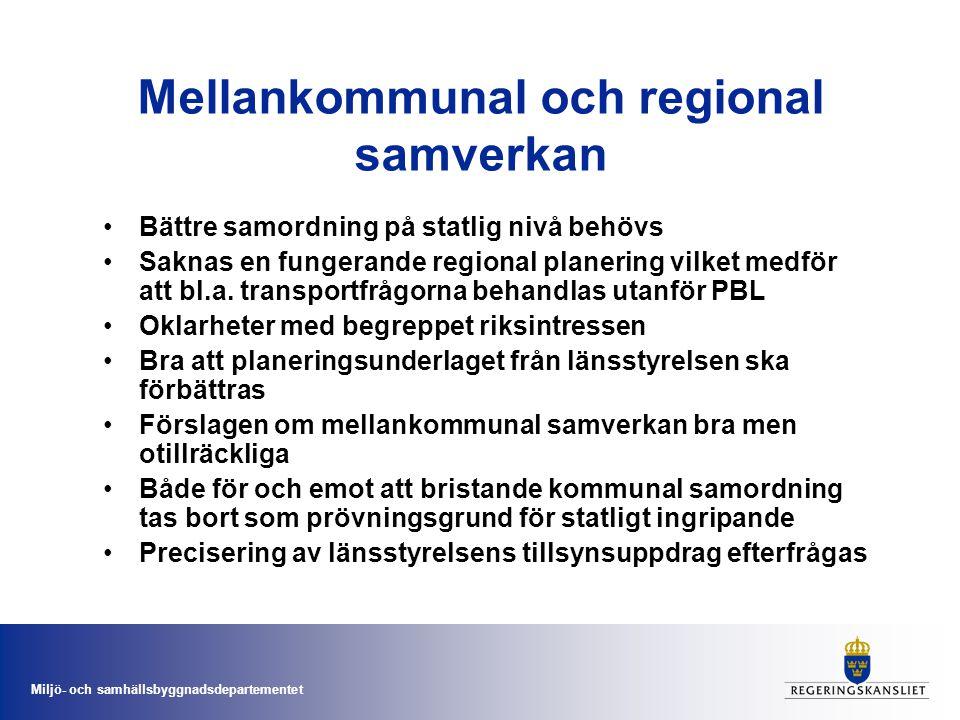 Mellankommunal och regional samverkan