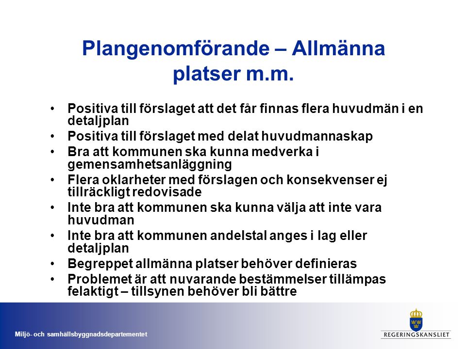 Plangenomförande – Allmänna platser m.m.