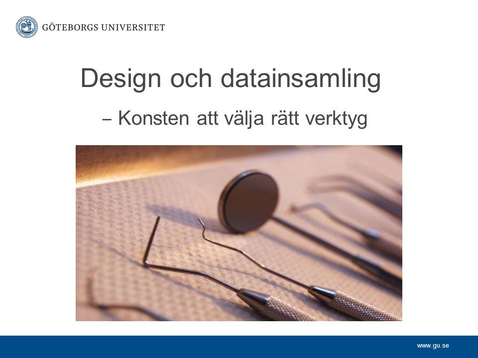 Design och datainsamling