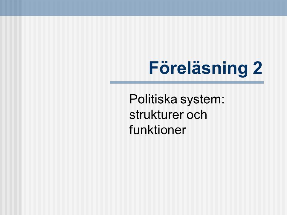 Politiska system: strukturer och funktioner