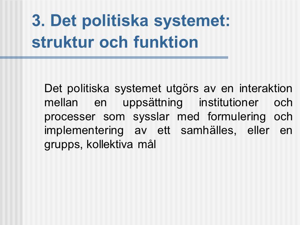 3. Det politiska systemet: struktur och funktion