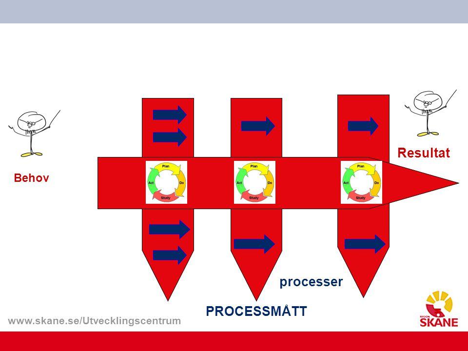 Resultat processer PROCESSMÅTT = Behov