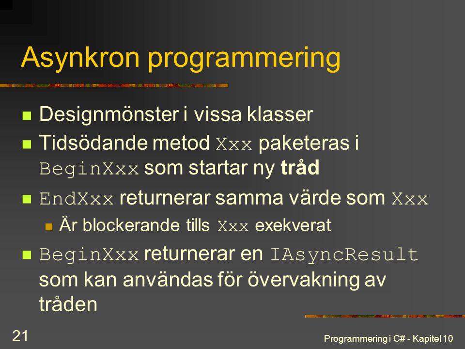 Asynkron programmering