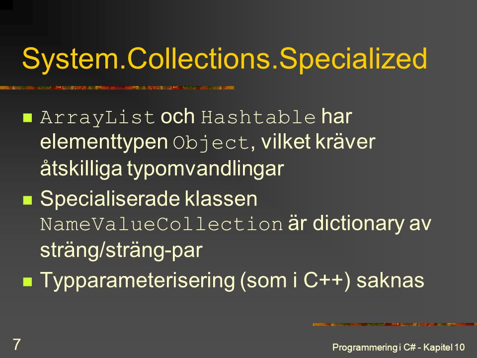 System.Collections.Specialized
