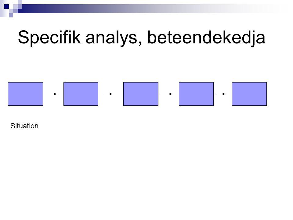 Specifik analys, beteendekedja
