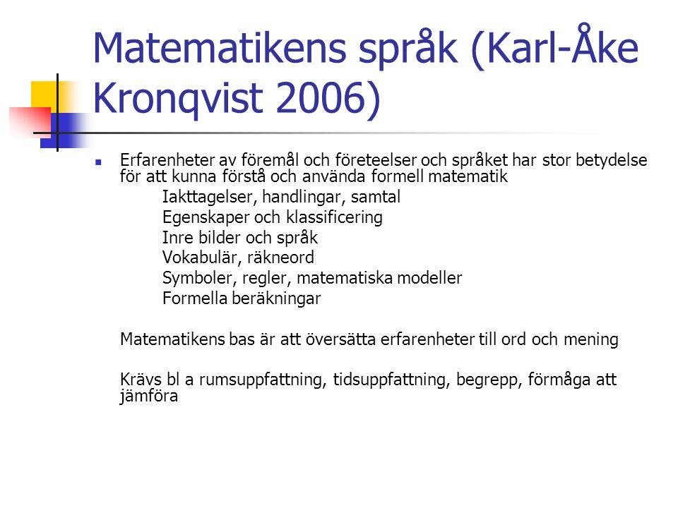 Matematikens språk (Karl-Åke Kronqvist 2006)