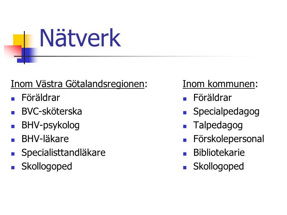 Nätverk Inom Västra Götalandsregionen: Föräldrar BVC-sköterska
