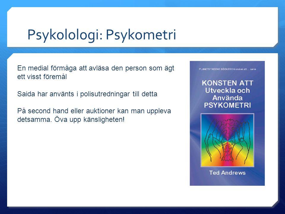 Psykolologi: Psykometri