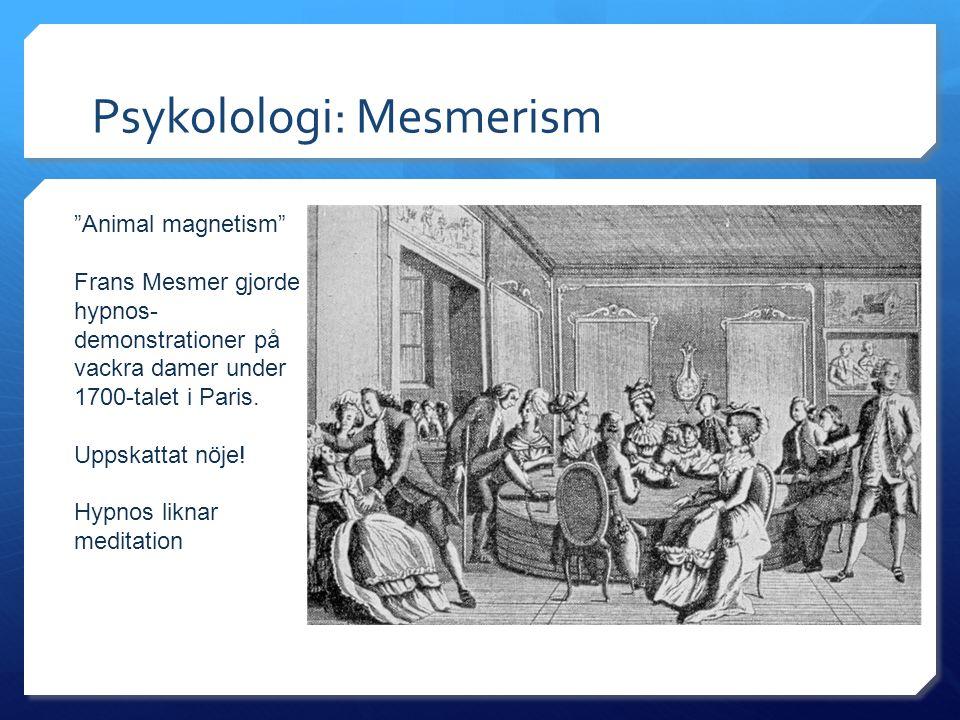 Psykolologi: Mesmerism