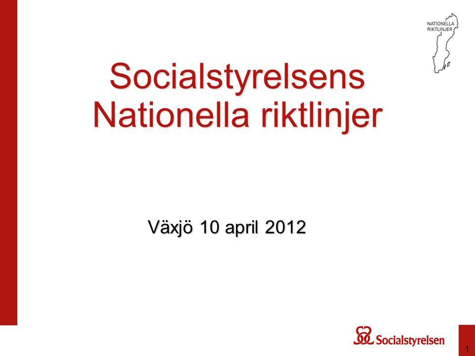Socialstyrelsens Nationella riktlinjer