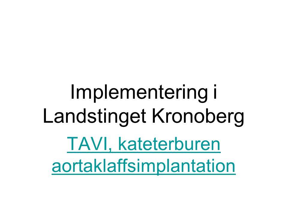Implementering i Landstinget Kronoberg