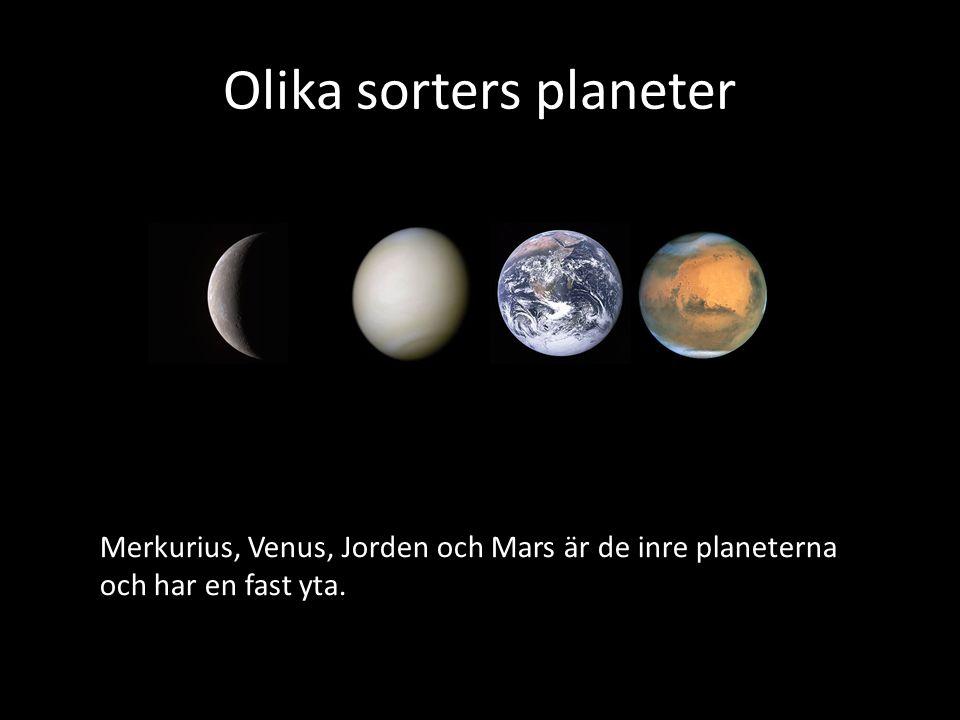 Olika sorters planeter