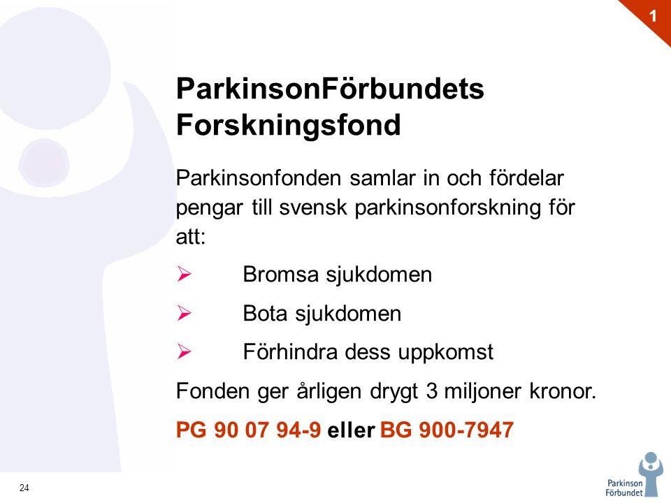 ParkinsonFörbundets Forskningsfond