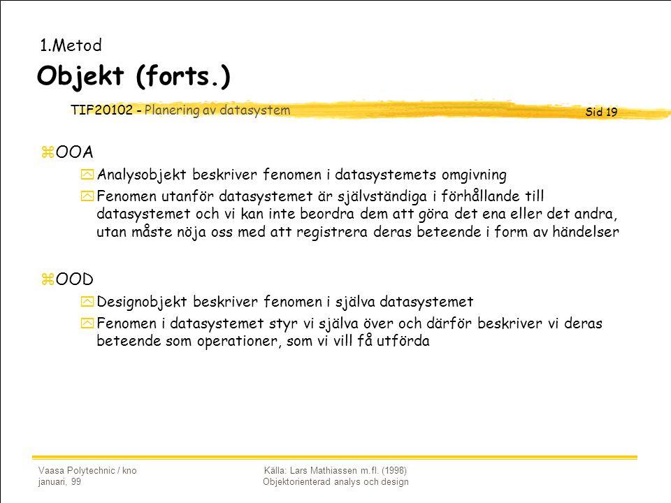 Källa: Lars Mathiassen m.fl. (1998) Objektorienterad analys och design