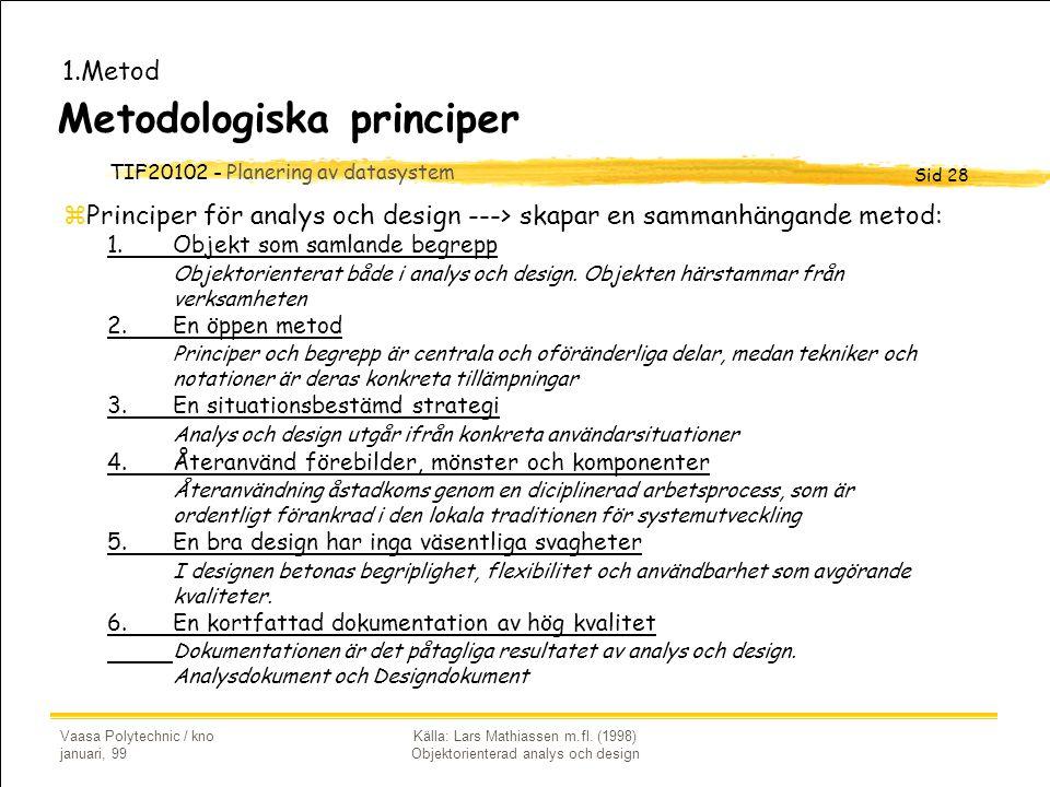 Metodologiska principer