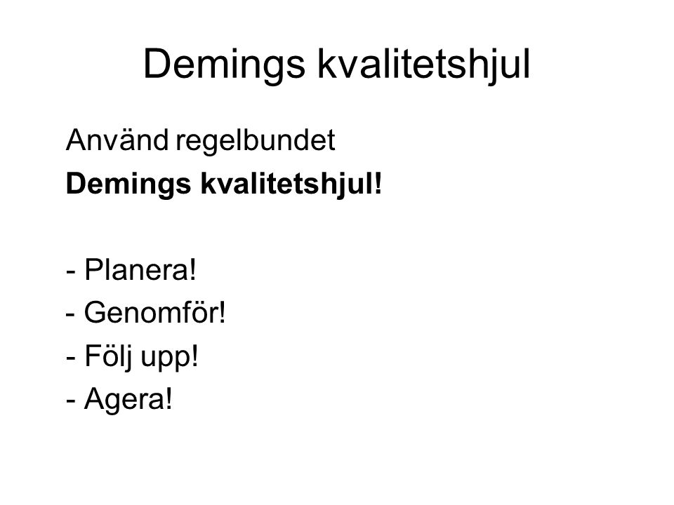 Demings kvalitetshjul