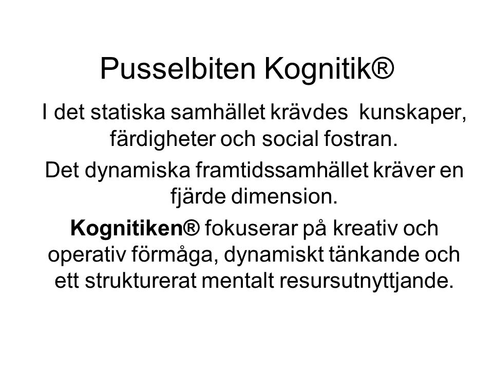 Pusselbiten Kognitik®