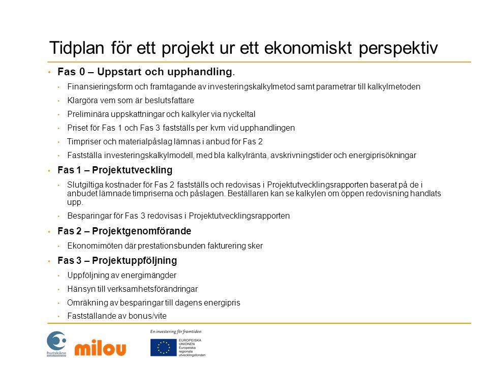 Tidplan för ett projekt ur ett ekonomiskt perspektiv