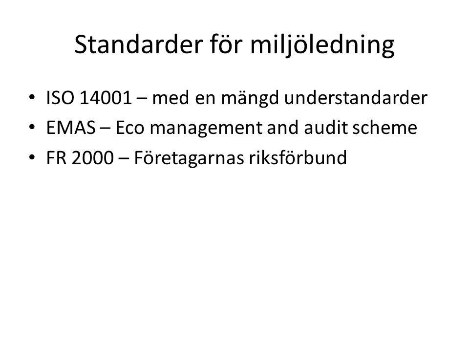 Standarder för miljöledning