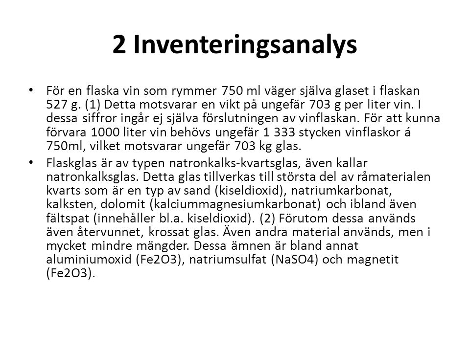 2 Inventeringsanalys