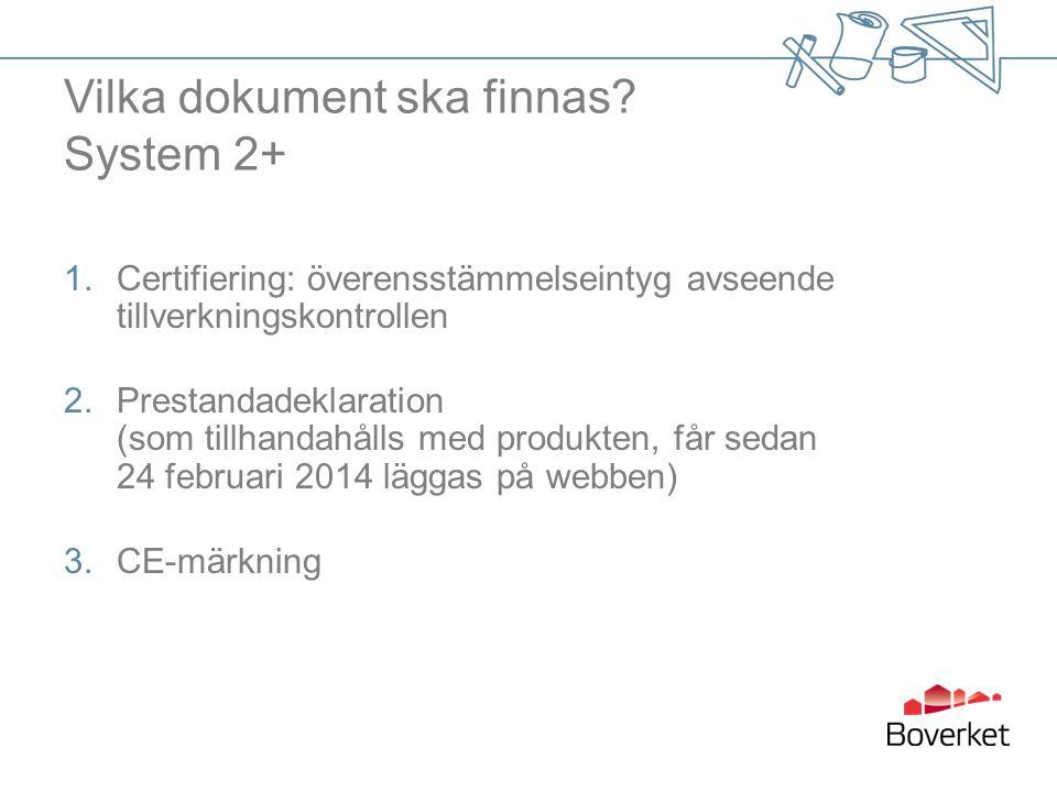 Vilka dokument ska finnas System 2+