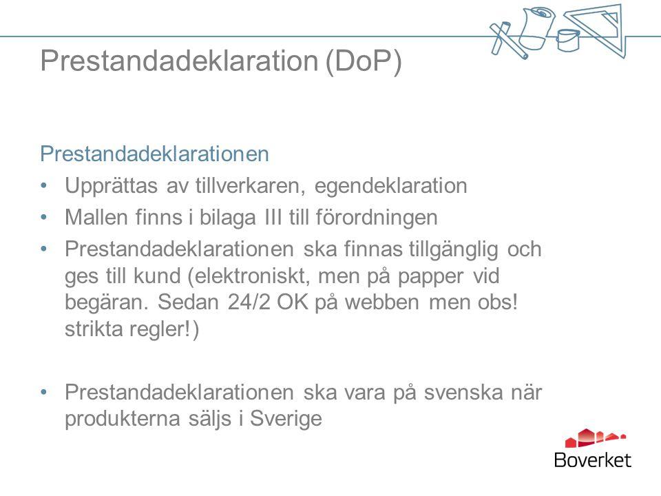 Prestandadeklaration (DoP)