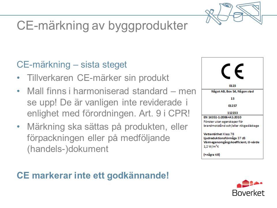 CE-märkning av byggprodukter