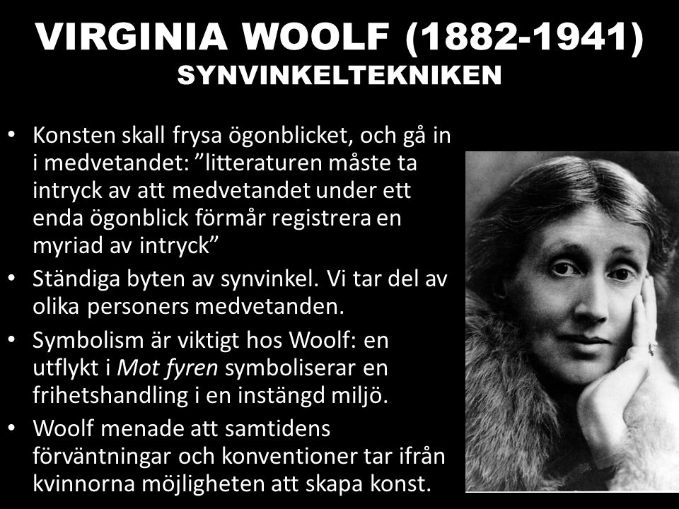 VIRGINIA WOOLF (1882-1941) SYNVINKELTEKNIKEN