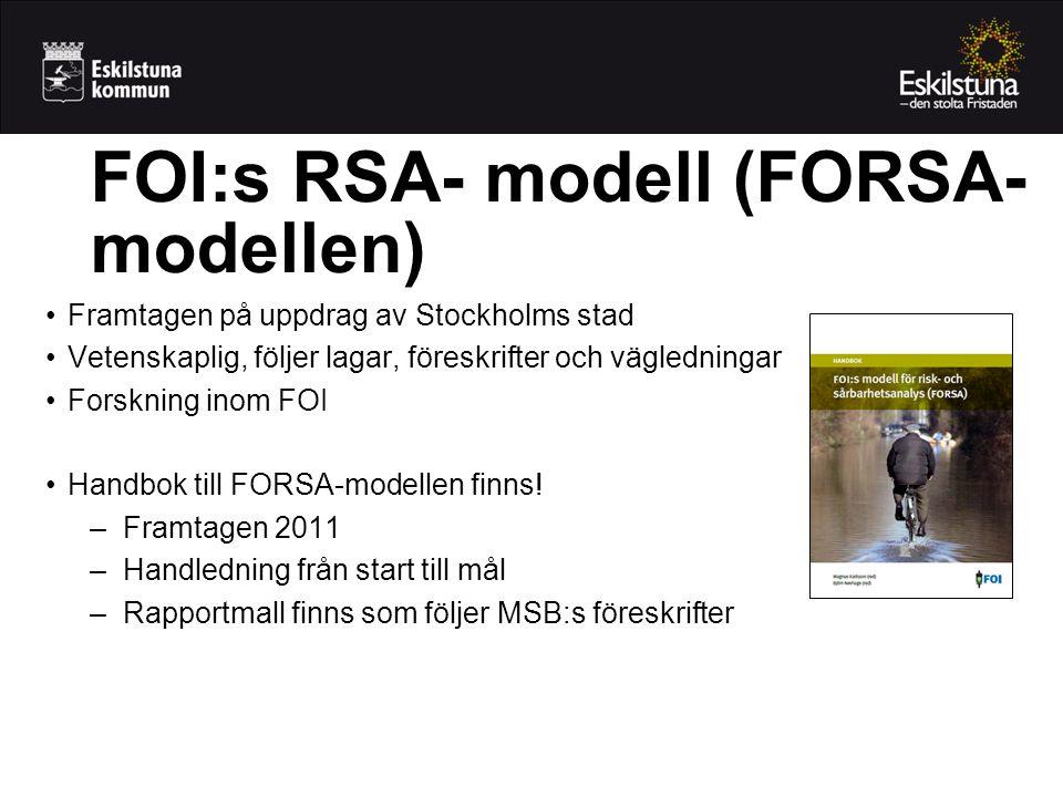 FOI:s RSA- modell (FORSA-modellen)