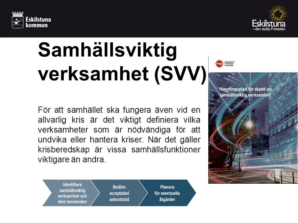 Samhällsviktig verksamhet (SVV)